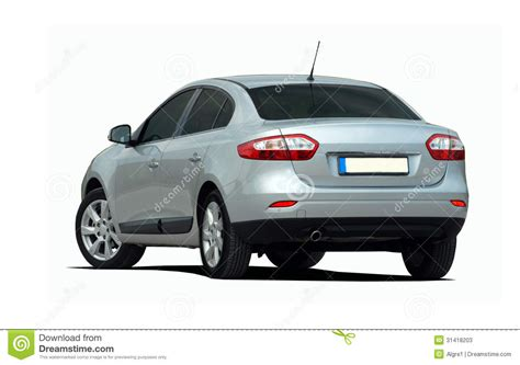 car rear view white sedan rear view stock image image of business