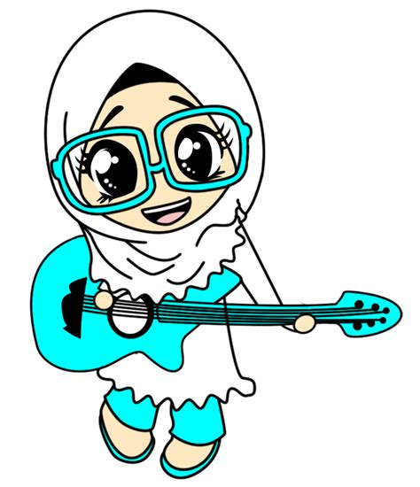 freebies doodle muslimah comel fizgraphic design printing freebies doodle muslimah