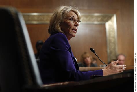 betsy devos record betsy devos the relatively mainstream reformer a long