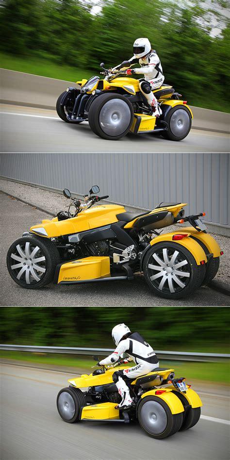 lazareth wazuma stick a turbocharged motorcycle engine on a quad and you