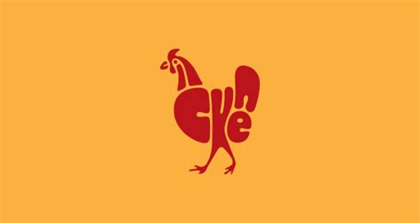 Letter Chicken Typography In The Shape Of Adorable Animals Designtaxi