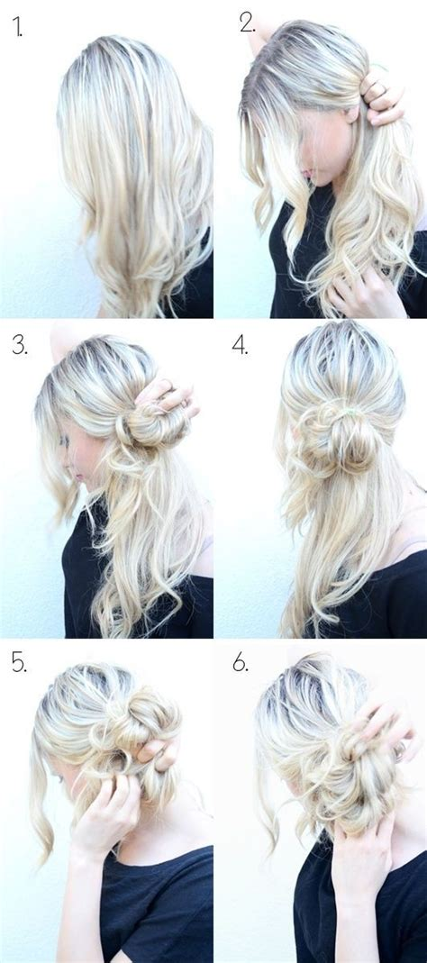 cute hairstyles messy bun top 25 messy hair bun tutorials perfect for those lazy