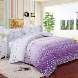 size bedding 4pcs size white purple orchid flowers white