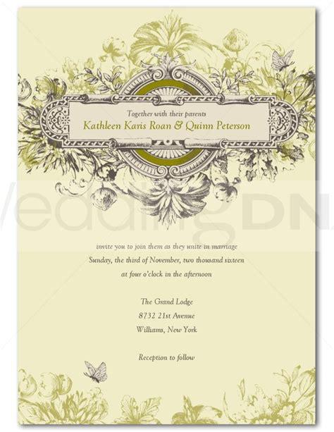 vintage wedding invite template wedding ideas