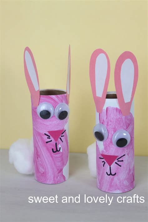 Toilet Paper Roll Bunny Craft - sweet and lovely crafts toilet paper roll bunnies