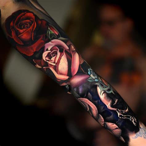 tattoo sleeve love realistic floral space sleeve by nikko hurtado tattoo