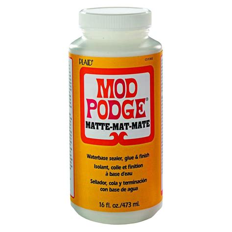 Decoupage Sealant - mod podge 16 oz matte decoupage glue cs11302 the home depot