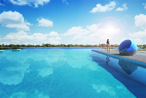 beautiful pool the santorini site plan singapore new condo launch tines