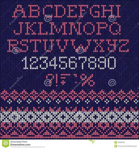 knitting pattern fonts christmas font scandinavian style seamless knitted