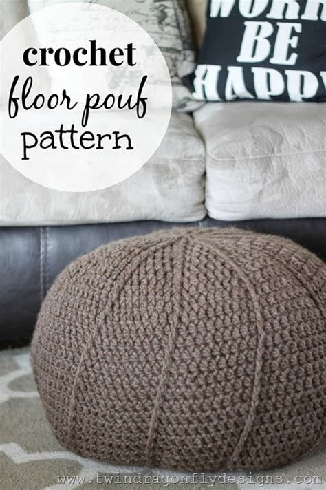 how to crochet a pouf ottoman free crochet floor pouf pattern 187 dragonfly designs