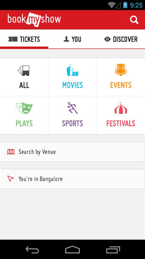 bookmyshow apk bookmyshow movie tickets plays android apps on google play