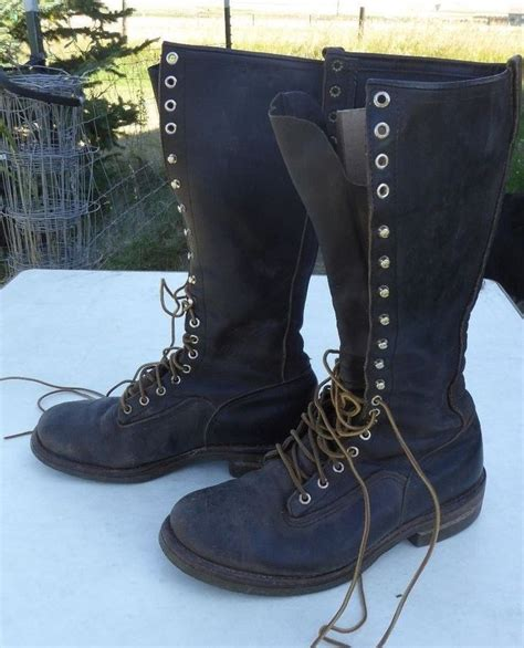 wing lineman boots vintage wing lineman boot made in usa motorcycle