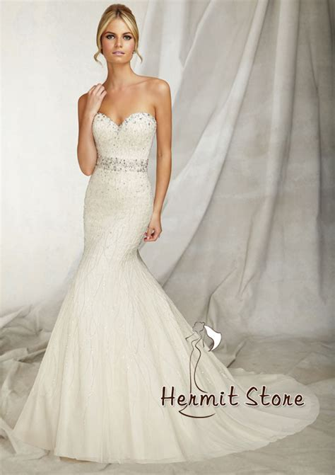 zm0018 strapless mermaid wedding dress bling wedding
