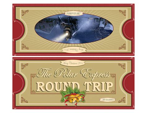 polar express ticket printable template best photos of polar express ticket template polar