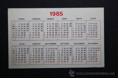 Calendario De 1985 Calendario Publicitario A 241 O 1985 Pokins Ref Comprar