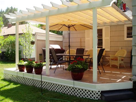 exterior white wooden siding design ideas with pergola
