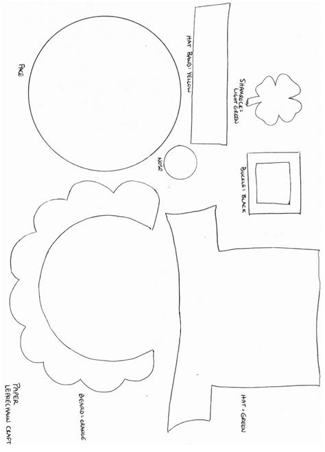 St Patricks Day Crafts Print Your Leprechaun Craft Template At Allkidsnetwork Com St Pats Free Printable Craft Templates