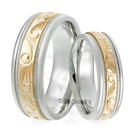 15 best collection of s and s matching wedding bands