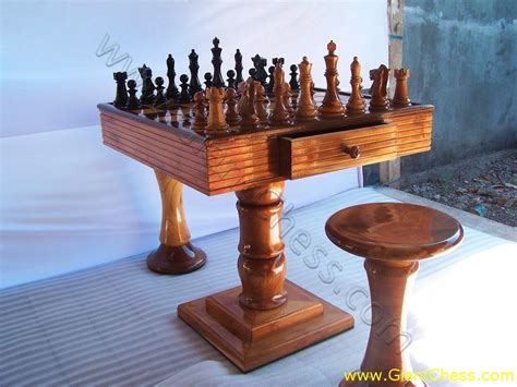 beautiful wooden chess table from giantchess 7 18