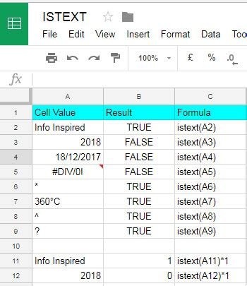 formula tutorial google sheets how to use istext function in google sheets exle formulas