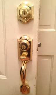 Front Door Handle Lock Set Kwikset Locked Handleset