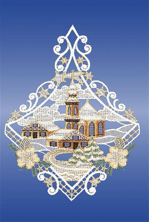 Weihnachtsdeko Fenster Günstig Kaufen by Fensterbilder Plauener Spitze Weihnachten Kirche G 252 Nstig