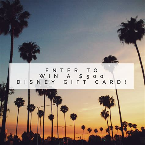 Disney Gift Card For Theme Park - 500 disney gift card giveaway ends 5 2 ww and blue sky and blue sky