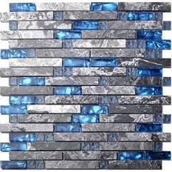 blue glass tile kitchen backsplash blue backsplash tile