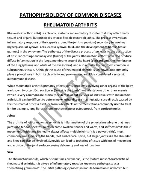 how to write a pathophysiology paper pathophysiology of common diseases authorstream