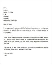Employment Testimonial Letter Format Sle Recommendation Letters For Employment 12 Documents In Word