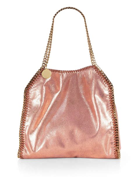Stella Mccartney Saddle Bag by Lyst Stella Mccartney Baby Metallic Shoulder Bag