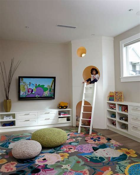 Area Rugs For Playrooms Playroom Large Floral Area Rug Knit Poufs Custom Play House With White Ladder Mak