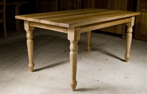 handmade oak kitchen table the oak pine barn hshire
