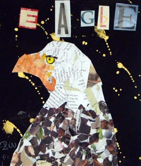 How To Make A Eagle Out Of Paper - 1000 images about paper collage on mixed