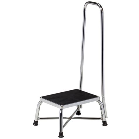 bariatric step stool with two handrails chrome bariatric step stool with handrail bariatric