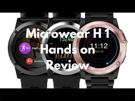 Smartwatch H1 microwear h1 smartwatch unboxing review