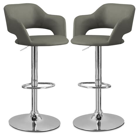 restaurant furniture bar stools monarch hydraulic contemporary bar stool set of 2 grey