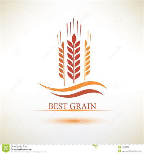 whole grains logo grain vector symbol stock vector image 43728303