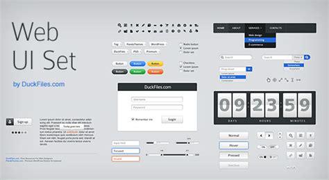 Web Ui Kit Free Psd Psdexplorer Website Ui Design Templates