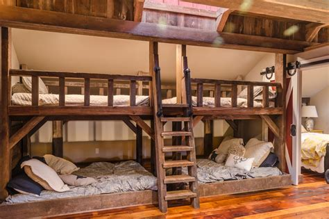 bedding barn rustic barn bunk bed with skylight slumber party at your house the frame and rails of