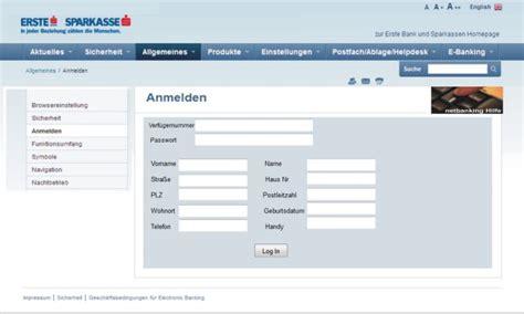 erste bank österreich netbanking watchlist vorsicht vor gef 228 lschten erste bank