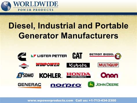 diesel industrial and portable generator manufacturers