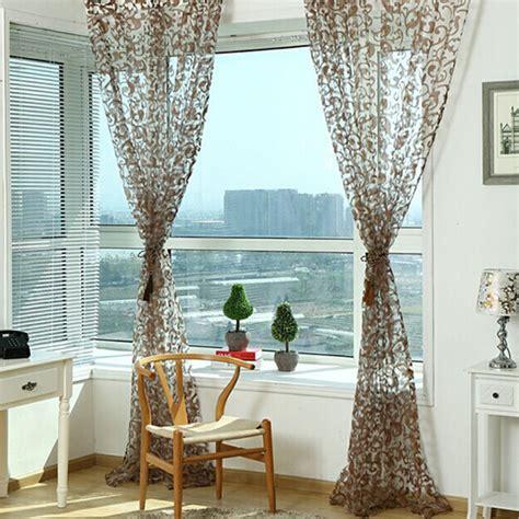 curtains balcony pastoral type sheer window screens door balcony curtain