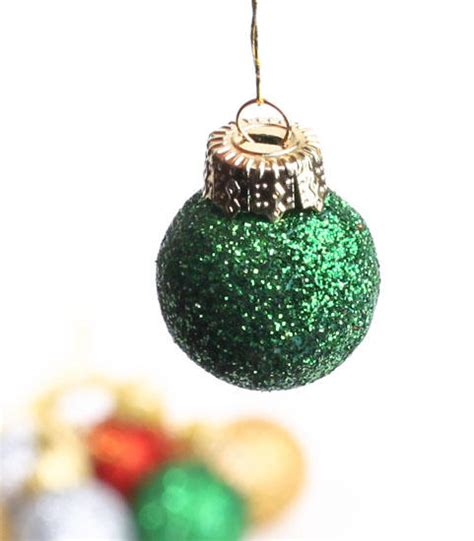 miniature glitter holiday ornaments christmas ornaments