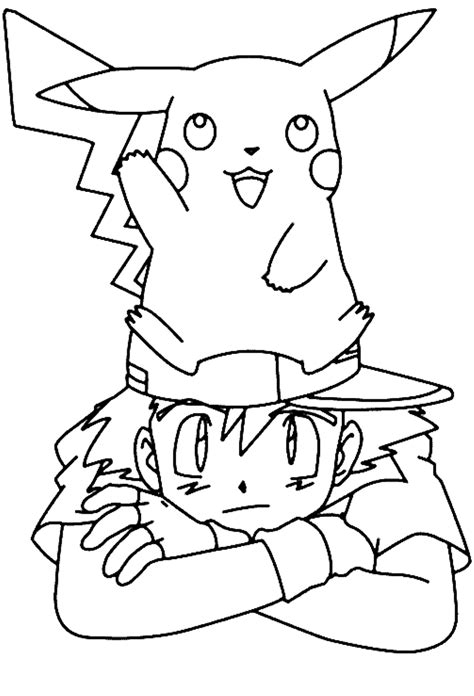 coloring pages pokemon ash pikachu coloring pages with ash cartoon coloring pages