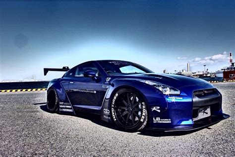 nissan dark blue liberty walk body kit nissan gtr r35 ravspec