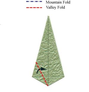 What Is A Valley Fold In Origami - how to make a three sepals standard origami calyx page 15