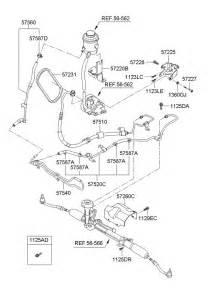 2007 hyundai accent power steering hose bracket