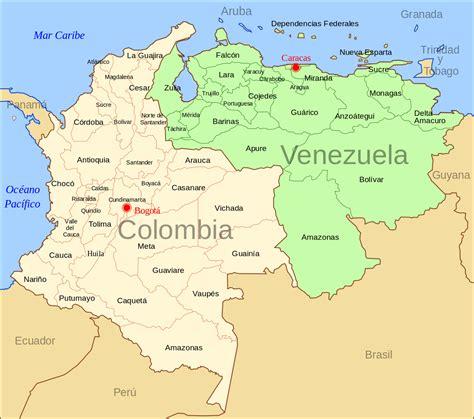 imagenes de venezuela y colombia file colombia venezuela map svg wikimedia commons