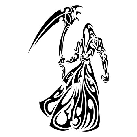 tribal grim reaper tattoos tribal grim reaper designs clipart best